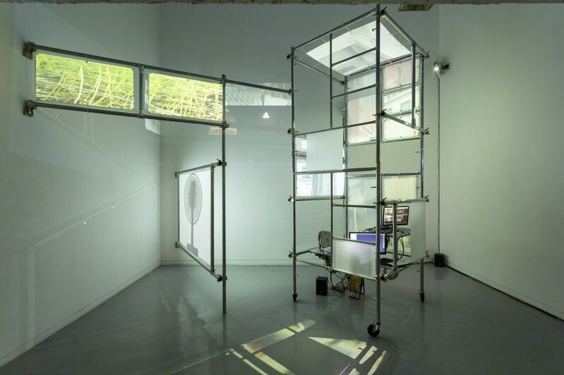 Yeseung Lee, 'Scaffold Scenery', 2016, Installation, Scaffold Scenery, Screen, Micro Controller, Beam Projector, Webcam, Savina Museum of Contemporary Art