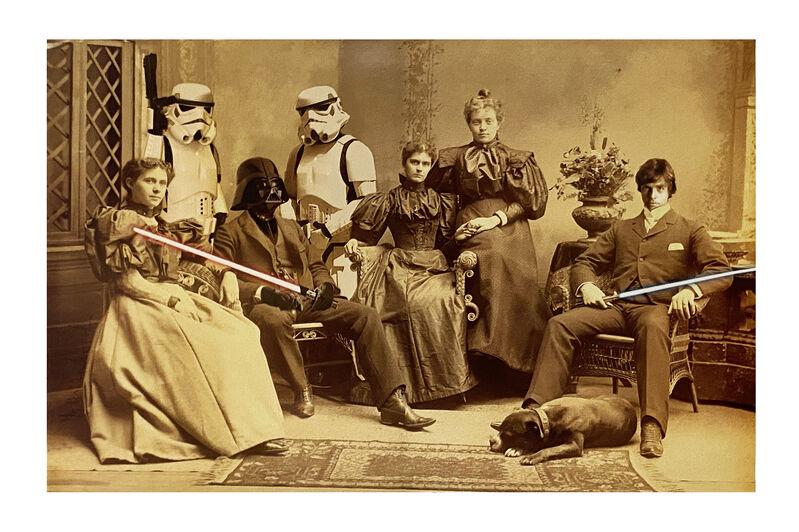 Mr. Brainwash, ''Star Wars Reunion'', 2010, Print, Offset lithograph on satin poster paper., Signari Gallery