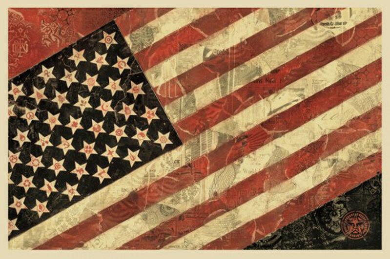 Shepard Fairey, 'Flag I', 2011, Print, Offset lithograph, EHC Fine Art Gallery Auction