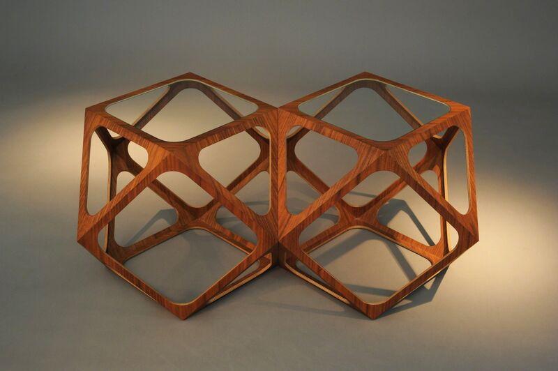 Rasmus Fenhann, 'Kubo table', 2007, Design/Decorative Art, Wood, glass, Galerie Maria Wettergren