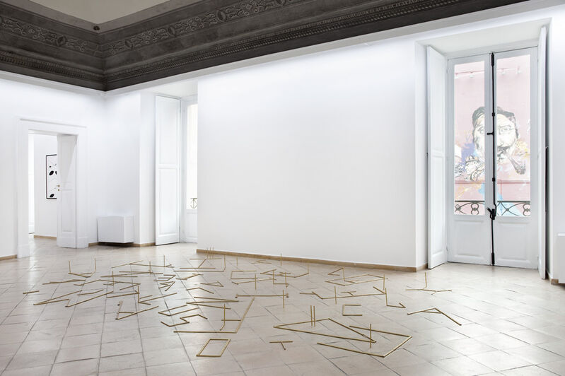 Pedro Barateiro, 'Finally...',  2011, Sculpture, 504 golden coated oak graphite pencils, Vistamare/Vistamarestudio