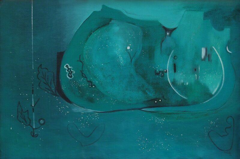 Zubeida Agha, 'Midnight', 1979, Painting, Oil on Canvas, Khaas Art