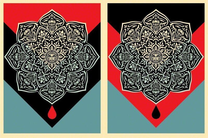 Shepard Fairey, 'blood & oil mandala set', 2017, Print, Screen print on paper, Rudolf Budja Gallery