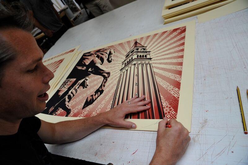 Shepard Fairey, 'Venezia', 2009, Print, Silkscreen on paper, Bugno Art Gallery