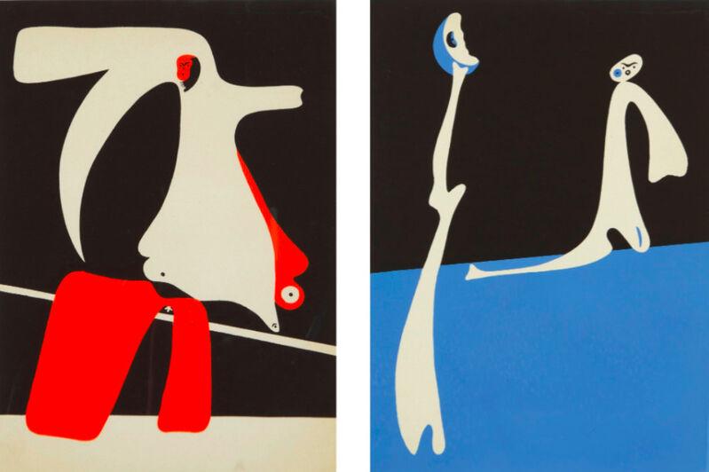 Joan Miró, 'Cahiers d'Art (Dupin 14-15)', 1934, Print, Pochoir, F.L. Braswell Fine Art