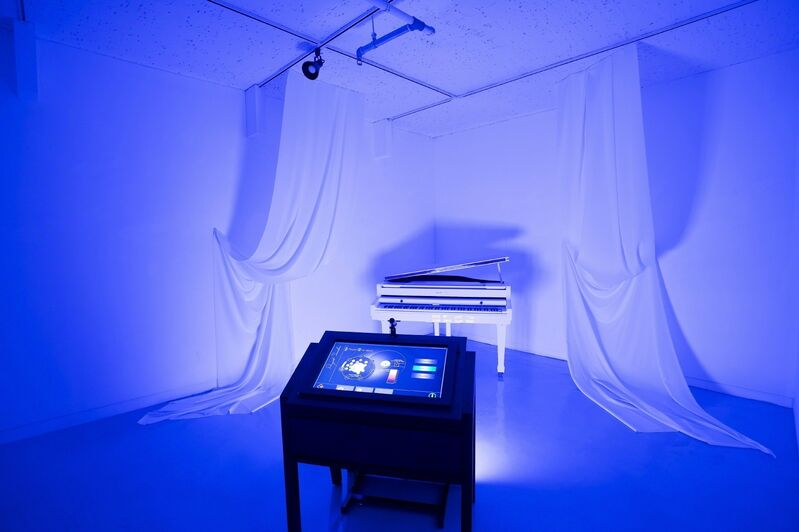 HYBE, 'Project Scriabin', 2015, Installation, Touch monitor, PC, LED, player, digital piano, Savina Museum of Contemporary Art