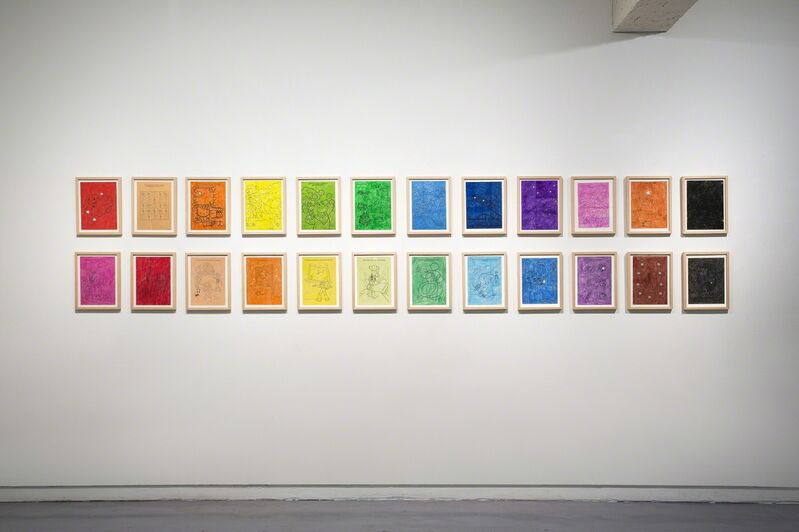 MeeNa Park, '12 Colors Drawings III &IV', 2015, Painting, Colored pencil on coloring page, Savina Museum of Contemporary Art