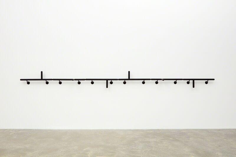 Mateo López, 'Handrail (Police Batons) ', 2018, Sculpture, Wood, enamel, Casey Kaplan