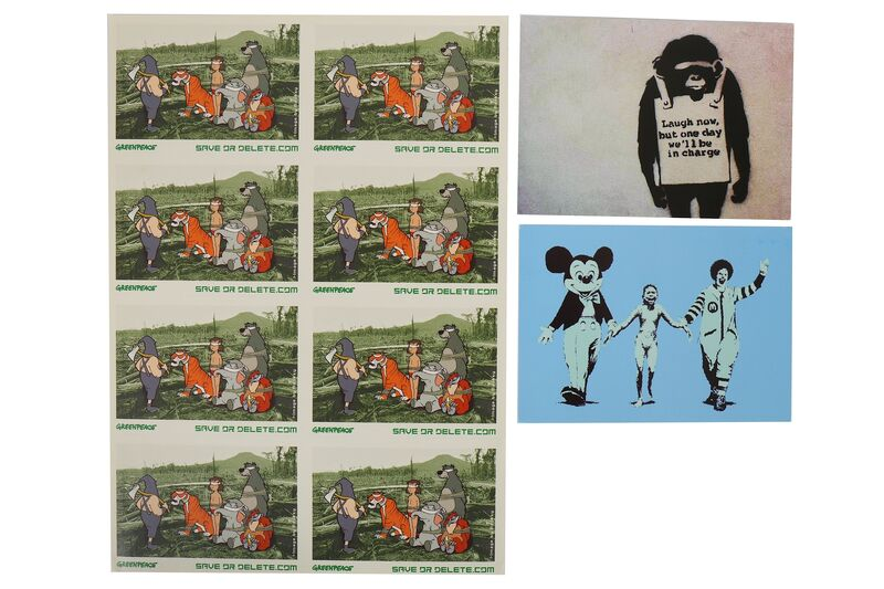 Banksy, 'Save or Delete Sticker Sheet', 2002, Print, Print on recycled paper sticker sheet, Chiswick Auctions