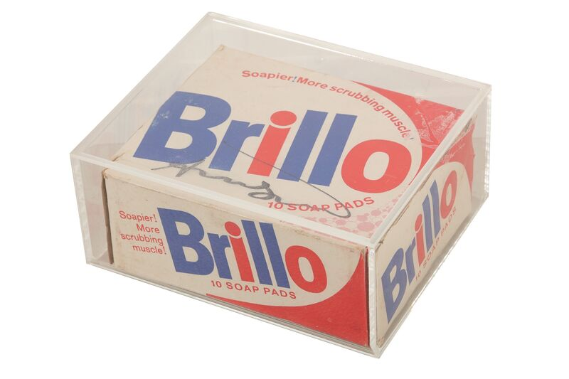 Andy Warhol, 'Brillo Box', Sculpture, Printed cardboard box, in Perspex box, Chiswick Auctions