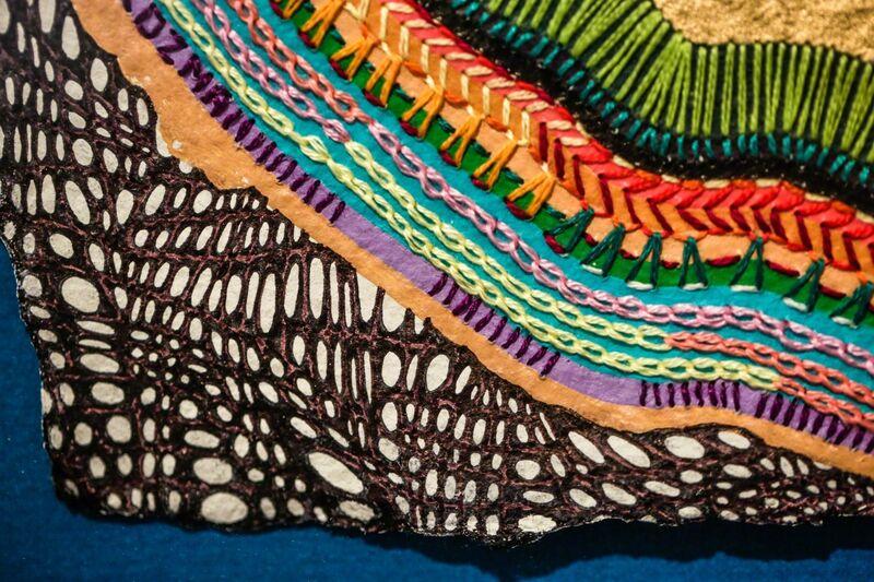 Kelly Kozma, 'Quest', 2014, Textile Arts, Hand embroidery, marker, latex & spray paint on rag paper, Paradigm Gallery + Studio