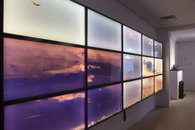 "Claudia Jaguaribe, '""céu"", from the series EntreVistas', 2014, Installation, Lightbox, CASANOVA"