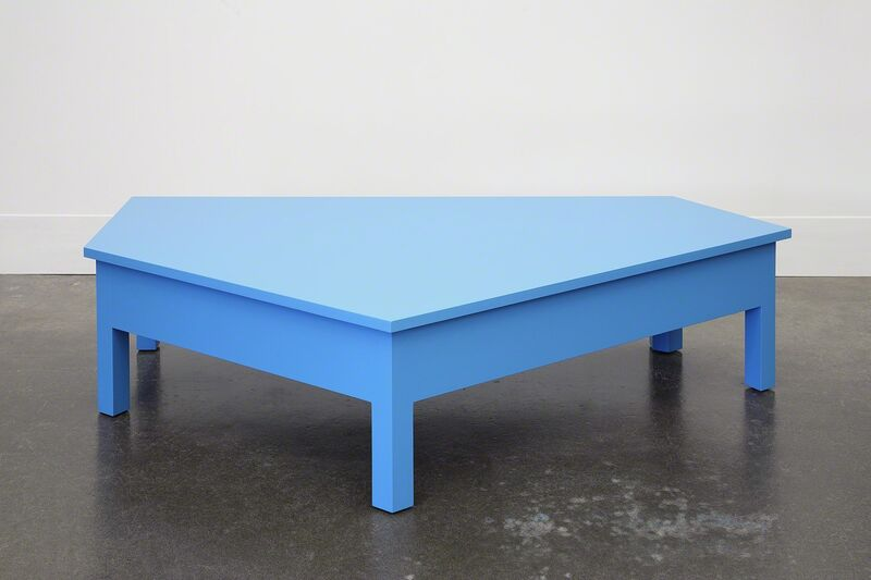 Roy McMakin, 'A Simple Blue Coffee Table', 2014, Design/Decorative Art, Painted maple, Domestic Furniture
