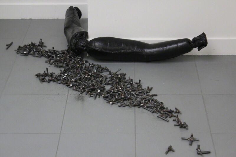 Dorian Sari, 'Everything Left', 2017, Sculpture, Matress, welded metal, Wilde