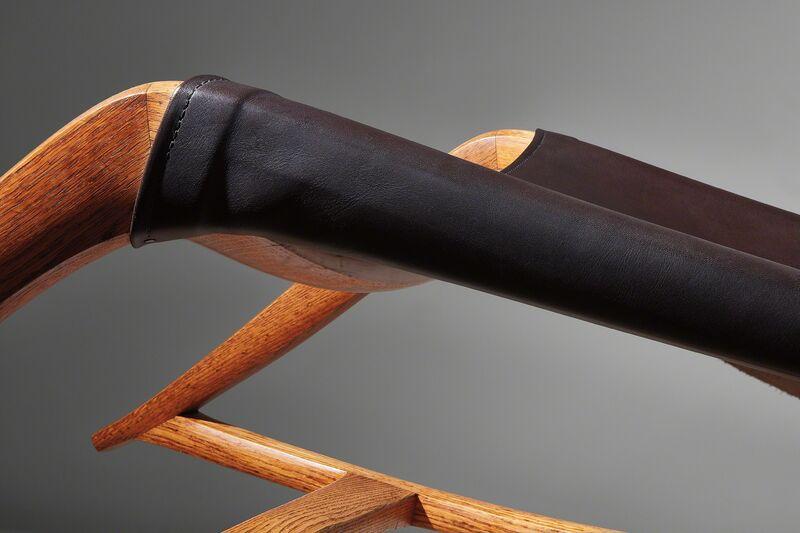 """Wendell Castle, 'Unique """"Chaise Rocker""""', 1962, Design/Decorative Art, Oak, leather, Phillips"""