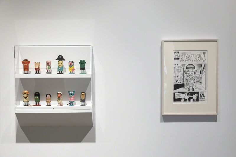 Daniel Clowes, 'Untitled (Cover drawing for Eightball #8)', 1992, Drawing, Collage or other Work on Paper, Black ink, gouache, on white board, McEvoy Foundation for the Arts