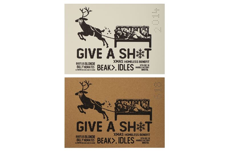 Banksy, 'Give a Sh*t Raffle Tickets (Brown & White)', 2019, Drawing, Collage or other Work on Paper, 2 printed raffle tickets on brown and white card, with punched numbers, Chiswick Auctions