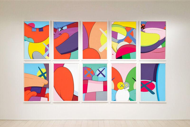 KAWS, 'No Reply (Portfolio of 10)', 2015, Print, Screenprint on wove paper, ten full sheets and original blue fabric-covered portfolio, Corridor Contemporary