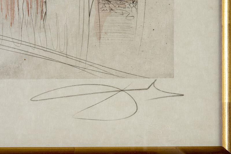 Salvador Dalí, 'Salvador Dali Notre Dame de Paris Original Engraving', 1972, Print, Engraving on Paper, Modern Artifact