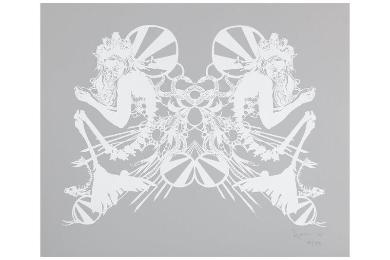 Swoon, 'Miss Rockaway (White on Mylar)', 2007, Print, Screenprint on paper, Chiswick Auctions