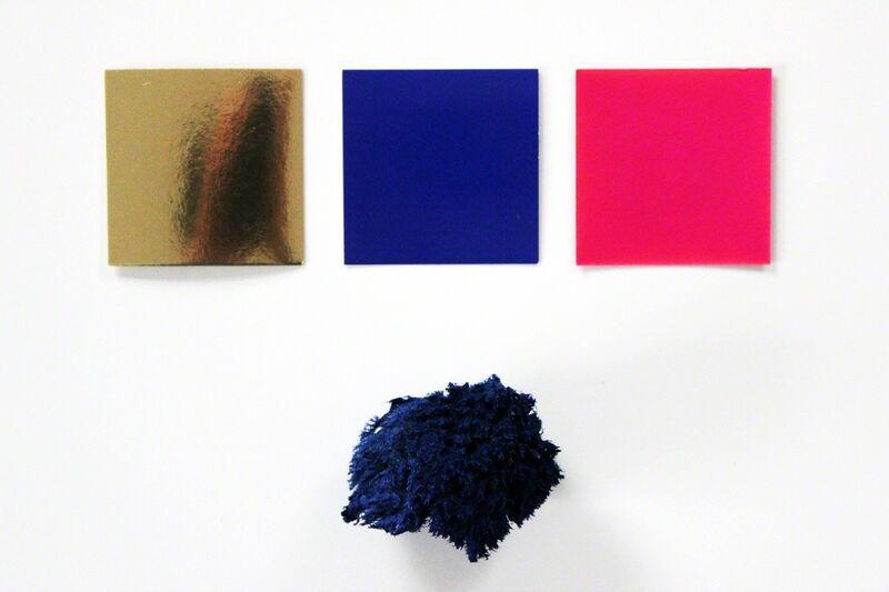 Yves Klein, 'Monochrome & Eponge', 1991, Ephemera or Merchandise, IKB Colored Sponge and Three Pieces of Cardstock Paper, EHC Fine Art
