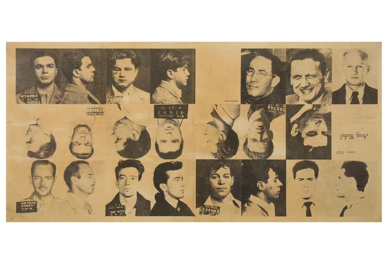 Andy Warhol, '13 Most Wanted Men', 1967, Print, Uncut sheet, Chiswick Auctions