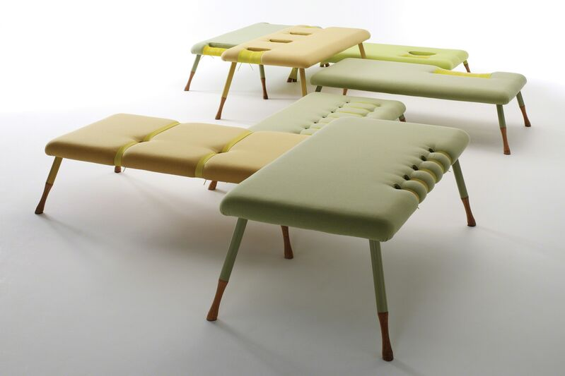 Ditte Hammerstrøm, 'Loungescape', 2005, Design/Decorative Art, Ottomans in fabric, metal, wood and plastic strings, Galerie Maria Wettergren
