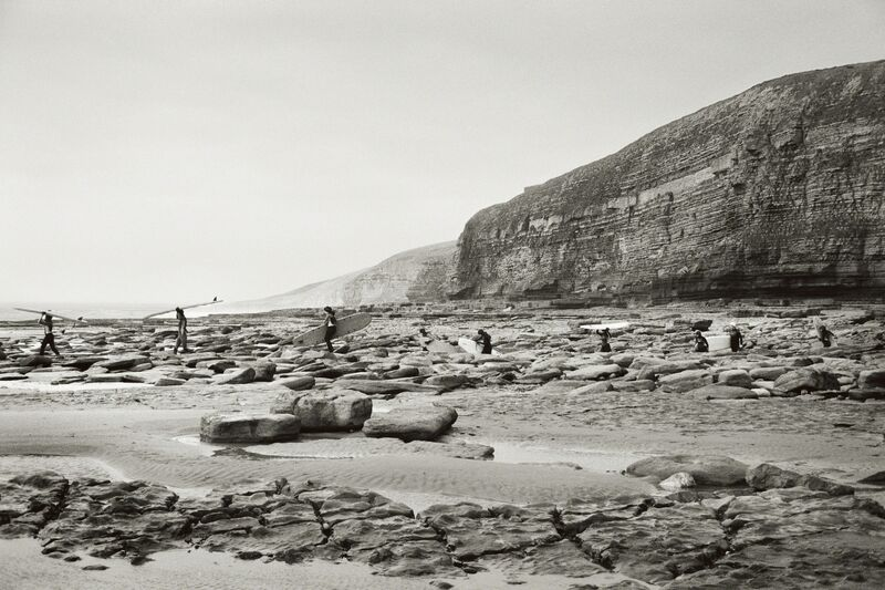 Priscilla Rattazzi, 'Surfers at Southerndown, Wales, UK', 2009, Photography, Archival Pigment Print, Staley-Wise Gallery