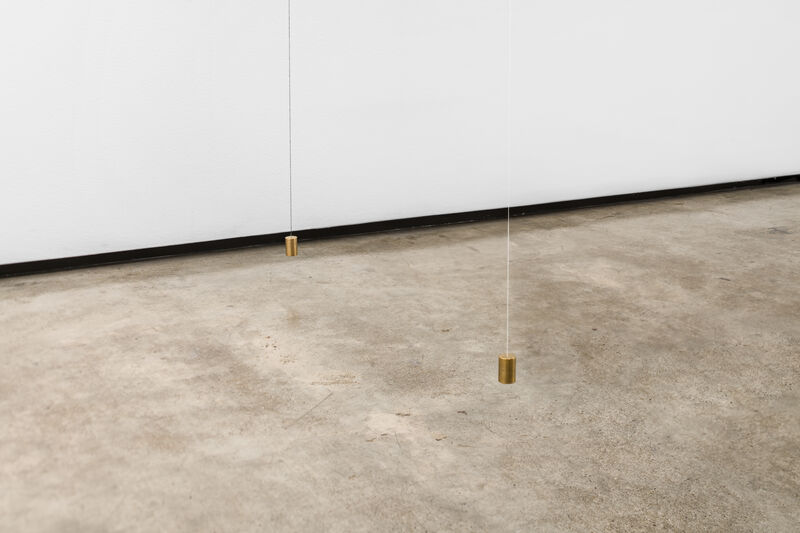 Jong Oh, 'Compo-site #24', 2019, Sculpture, String, paint, fishing line, steel rods, Plexiglas, calibration weights, bead, Lora Reynolds Gallery