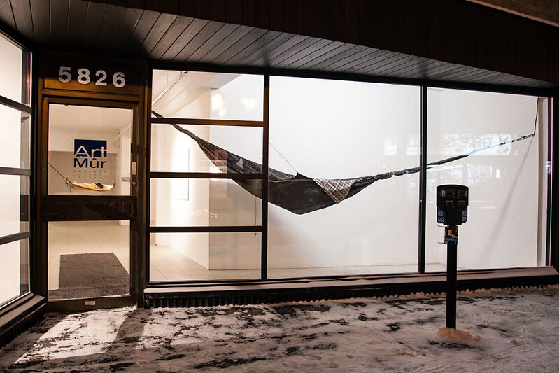 Patrick Beaulieu, 'Nuit noire', 2015, Installation, Hammock, rotating device, Art Mûr