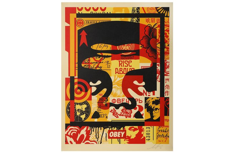 Shepard Fairey, 'OBEY Three Faces Collage no.1', Print, Offset lithograph, Chiswick Auctions