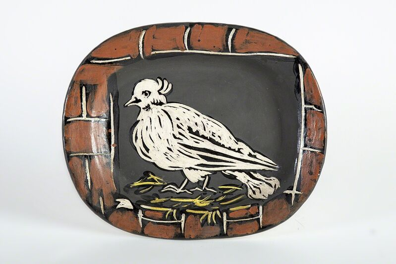 Pablo Picasso, 'Colombe Mate Plate', 1948, Sculpture, Ceramic, Modern Artifact