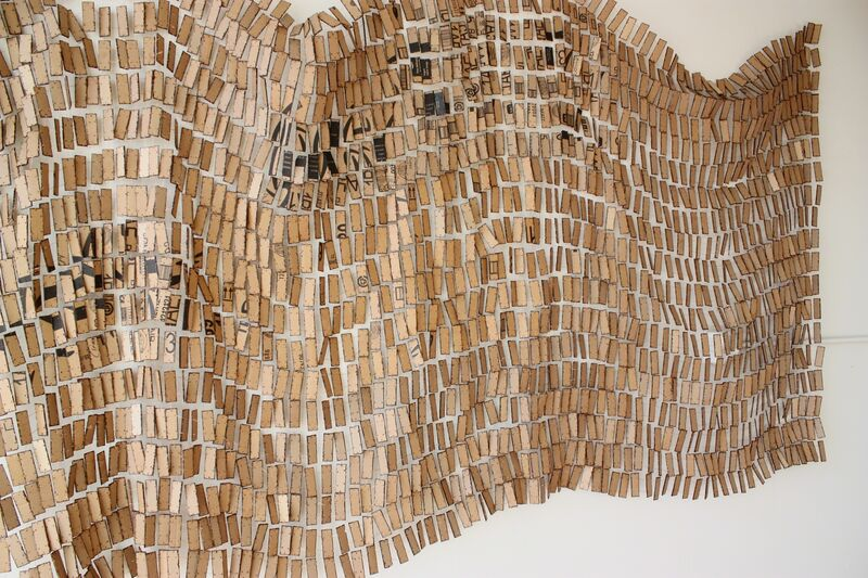 Minga Opazo, 'Monoculture', 2017, Installation, Burn recycled cardboard and copper wire, Dab Art
