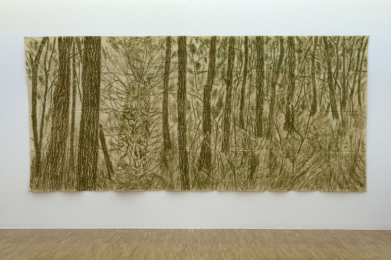 Giuseppe Penone, 'Verde del bosco', 1986, Painting, Leaves, frottage, vegetal color on canvas, Marian Goodman Gallery