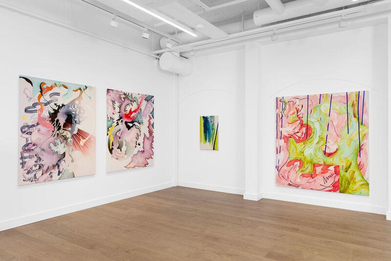 Jorunn Hancke Øgstad, 'Untitled', 2020, Painting, Fabric dye, plastic, acrylics and epoxy on cotton, VI, VII