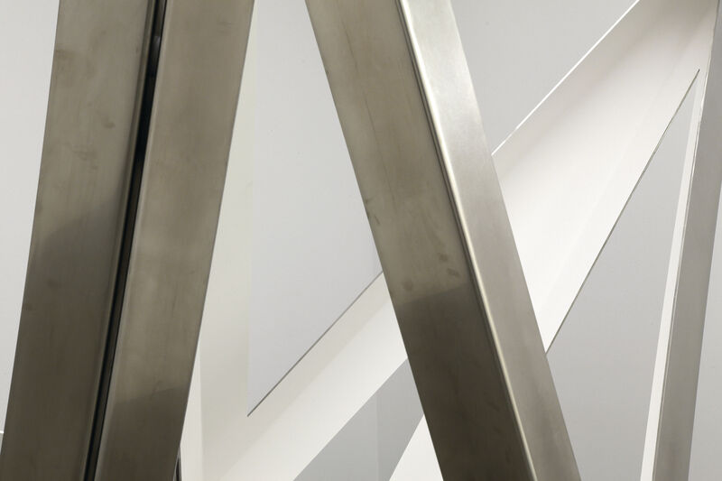 Richard Deacon, 'Twofold Way AB (White)', 2021, Sculpture, Stainless steel, Galerie Thomas Schulte