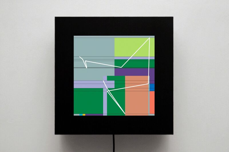 Manfred Mohr, 'P1622-D', 2012, bitforms gallery