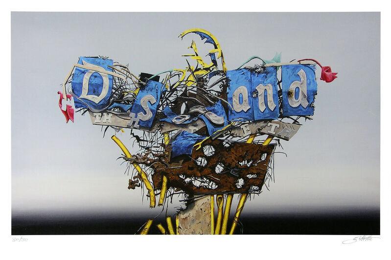 Jeff Gillette, 'Disney Sign Destruct', 2015, Print, Giclée on paper, Addicted Art Gallery