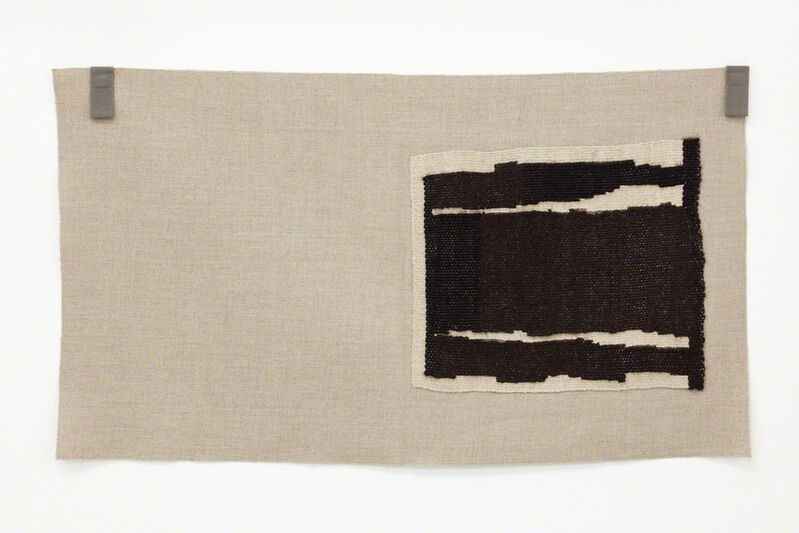 Helen Mirra, 'Undyed blacks, undyed ecru ', 2015, Textile Arts, Linen & wool on linen, Galerie Nordenhake