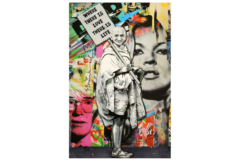 Mr. Brainwash, 'Gandhi', Print, Offset lithograph, Chiswick Auctions