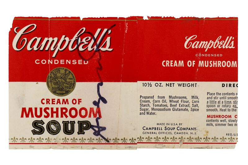 Andy Warhol, 'Cream of Mushroom Soup Label', Other, Campbell's soup can label, Chiswick Auctions