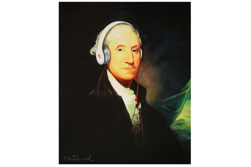 Mr. Brainwash, 'Washington with Headphones', 2000, Print, Offset Lithograph, Chiswick Auctions