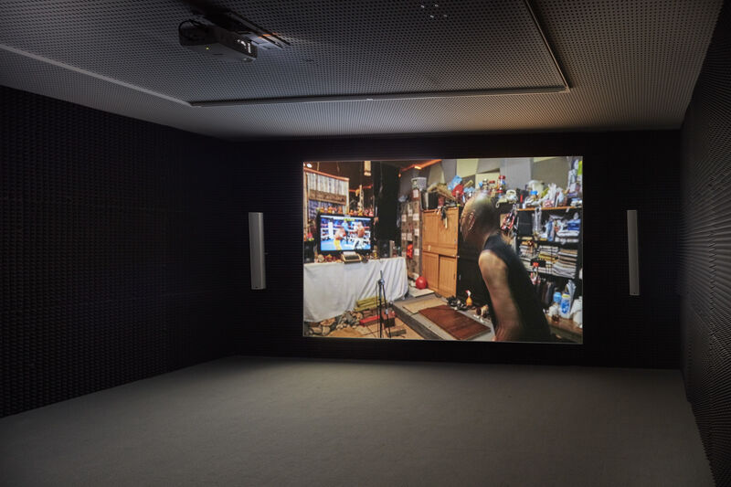 Paul Pfeiffer, 'Three Figures in A Room ', 2015, Installation, Video and sound installation, carlier   gebauer