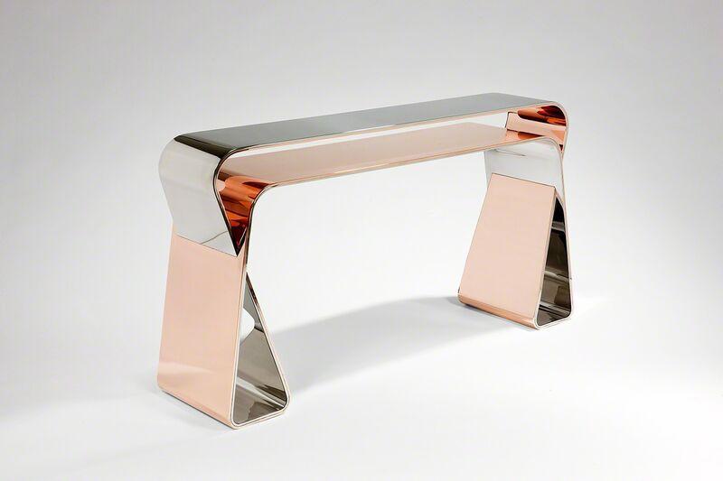 Mattia Bonetti, 'Console 'Endless Ribbon'', 2012, Design/Decorative Art, Aluminium, polished copper, polished stainless steel, David Gill Gallery