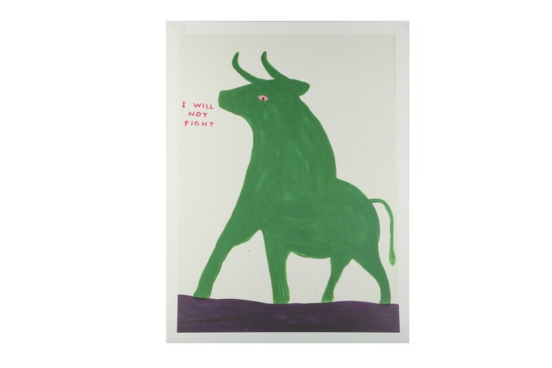 David Shrigley, 'I will not fight', Posters, Exhibition poster, Chiswick Auctions