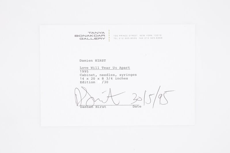 Damien Hirst, 'Damien Hirst Love Will Tear Us Apart Signed Contemporary Art', 1995, Sculpture, Acrylic syringe dispenser, needles, syringes and packaging, Modern Artifact