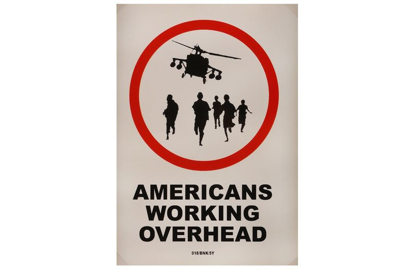 Banksy, 'Americans Working Overhead', 2004, Other, Sticker, Chiswick Auctions