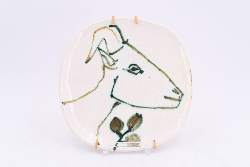 Pablo Picasso, 'Tête de chèvre de profil', 1950, Design/Decorative Art, White earthenware clay, decoration in oxidized paraffin and glaze, BAILLY GALLERY