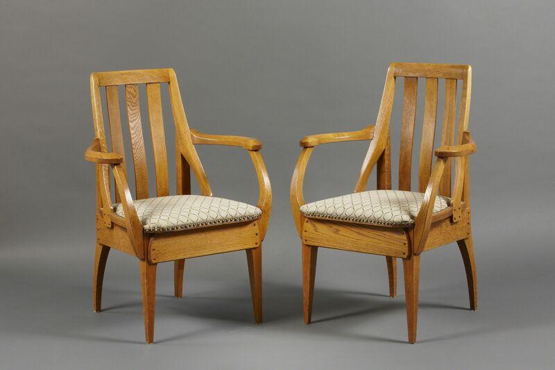 Richard Riemerschmid, 'Pair of armchairs', 1906-1907, Design/Decorative Art, Oak, Franck Laigneau