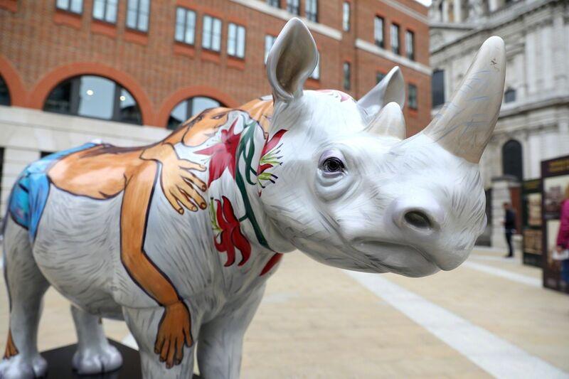 Eileen Cooper, 'Marjorie', 2018, Sculpture, Rhino: fibreglass rhino (fire retardant) with internal armature Finish: Acrylic paint, Tusk Benefit Auction